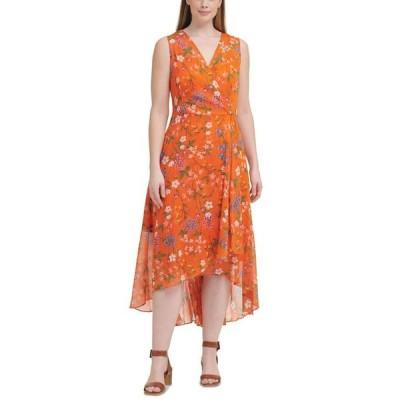 カルバンクライン レディース ワンピース トップス Plus Size Floral-Print Maxi Dress