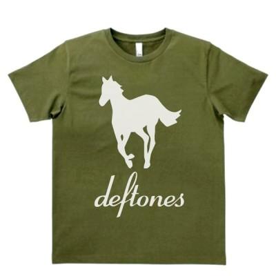 音楽・バンド・ロック・シネマ  Tシャツ deftones カーキー MLサイズ