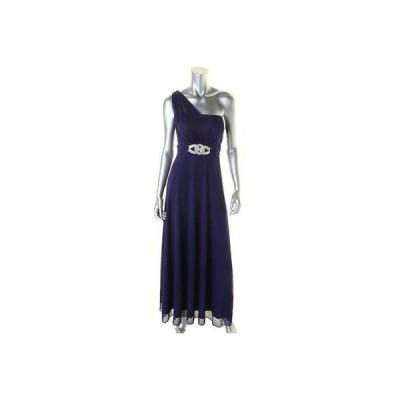 ドレス ワンピース Betsy & Adam Betsy Adam 9491 レディース パープル Chiffon Evening ドレス Gown Petites 4P BHFO