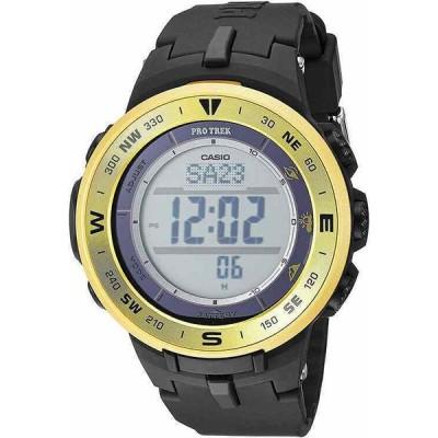 カシオ 腕時計 Casio メンズ Pro Trek プロトレック Triple Sensor Tough Solar Black Resin Watch PRG330-9A