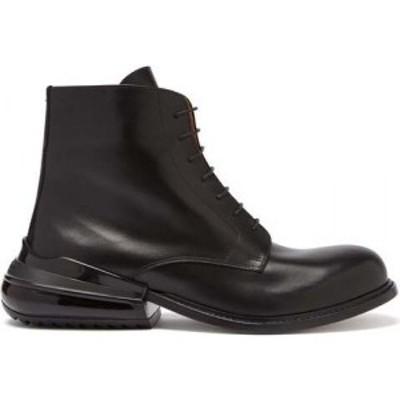 メゾン マルジェラ Maison Margiela メンズ ブーツ ショートブーツ シューズ・靴 Airbag-heel leather ankle boots Black