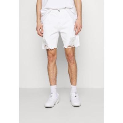 グッドフォーナッシング メンズ ファッション DISTRESSED - Denim shorts - white