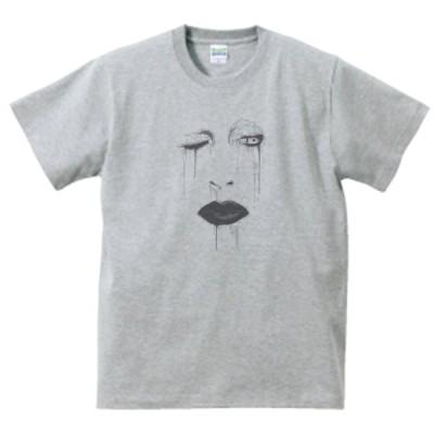 マリリン・マンソン  Marilyn Manson 音楽・ロック・シネマ Tシャツ グレー