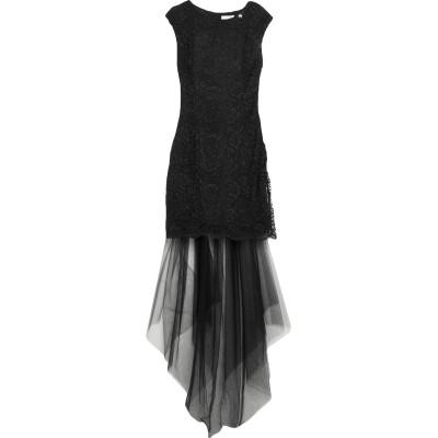 レリッシュ RELISH ロングワンピース&ドレス ブラック XS ポリエステル 100% ロングワンピース&ドレス