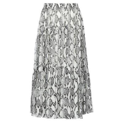 ジャッカ JUCCA 7分丈スカート アイボリー 40 コットン 76% / シルク 24% 7分丈スカート