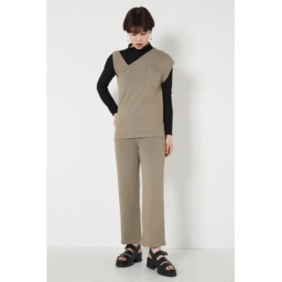 【シェルターセレクト】 サマーニットストレートパンツ(New Standard Trousers) レディース KHA FREE SHEL'TTER SELECT