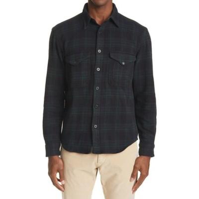 ダブルアールエル RRL メンズ シャツ トップス Catalogue Work Shirt Green/Black