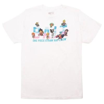 ベイト メンズ 服  BAIT x One Piece x Upcycle LA Men Straw Hat BAIT Crew Tee (white)
