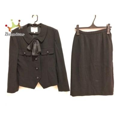 キミジマ kimijima スカートスーツ サイズ11 M レディース 黒 リボン   スペシャル特価 20201108
