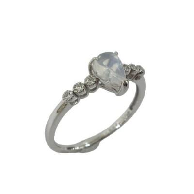 ジュエリー ジュエリー ムーンストーン ダイヤモンド 指輪 リング クリア系  ランクA 15号