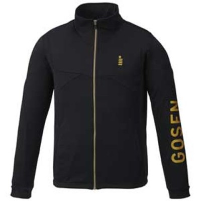 ゴーセン ユニセックス ニットジャケット(ブラック・サイズ:S) GOSEN GOS-W1800-39-S 【返品種別A】