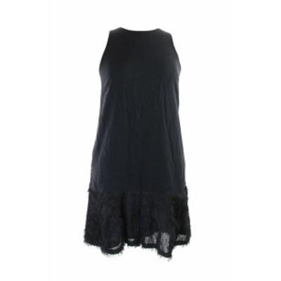 Rachel Roy レイチェルロイ ファッション ドレス Rachel Rachel Roy Black Sleeveless Fringed Tent Dress S