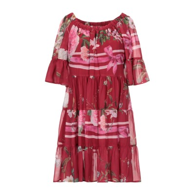 ブルーガール ブルマリン BLUGIRL BLUMARINE ミニワンピース&ドレス ボルドー 36 ポリエステル 100% ミニワンピース&ドレス