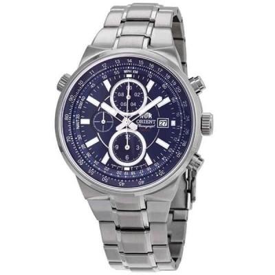 腕時計 オリエント メンズ Orient Classic Chronograph Blue Dial Men's Watch FTT15002D0