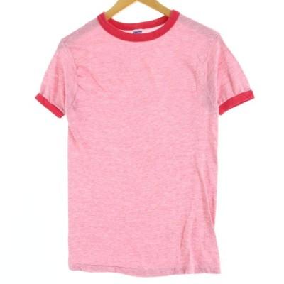 70年代 Healthknit リンガーTシャツ レディースS ヴ /eaa048547