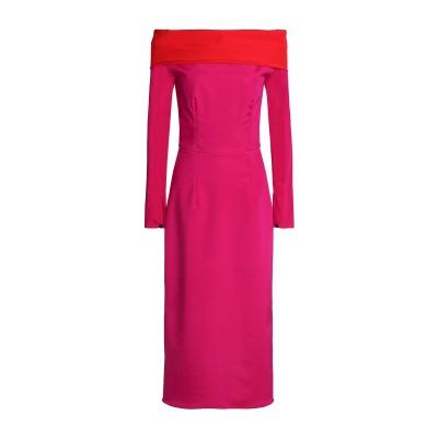 EMILIO de la MORENA 7分丈ワンピース・ドレス フューシャ 8 シルク 95% / ポリウレタン 5% 7分丈ワンピース・ドレス