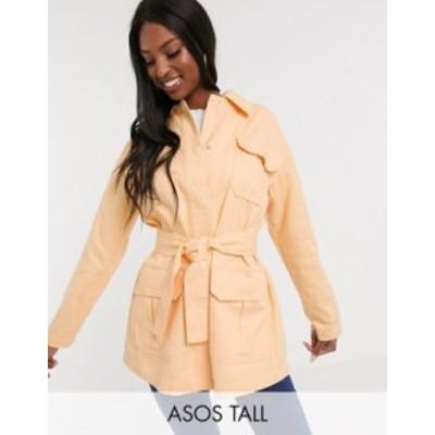 エイソス レディース ジャケット・ブルゾン アウター ASOS DESIGN Tall soft cotton utility jacket in buttermilk Buttermilk
