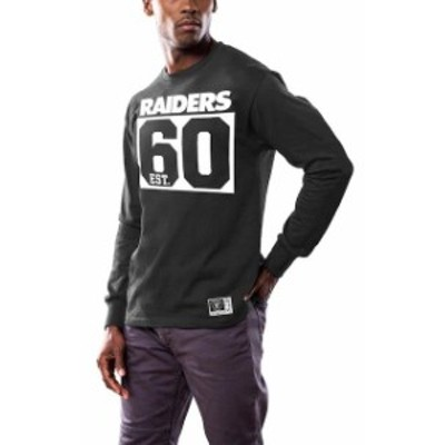 Majestic マジェスティック スポーツ用品  Majestic Oakland Raiders Black Favorable Result Long Sleeve T-Shirt