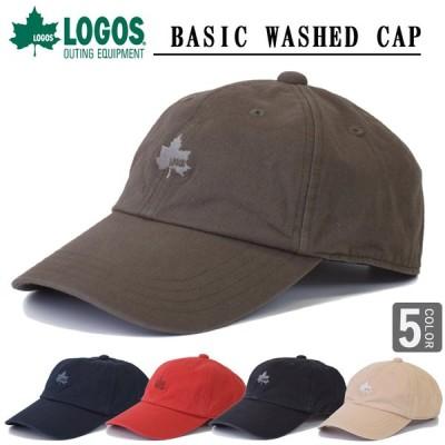 ロゴス LOGOS ベーシックキャップ ローキャップ ソフトキャップ ロゴキャップ キャップ 帽子 サイズ調節可能logo cap