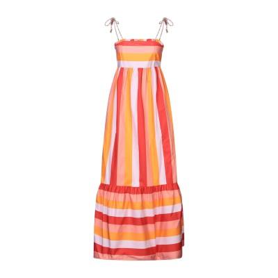 ツインセット シモーナ バルビエリ TWINSET ロングワンピース&ドレス オレンジ 40 コットン 100% / ポリエステル ロングワンピース