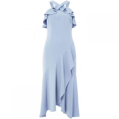 キープセイク Keepsake レディース ワンピース ミドル丈 ワンピース・ドレス halter neck frill midi dress Blue