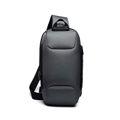 Leaper(リーパー) ボディバッグ ショルダーバッグ メンズ USB充電ポート搭載 盗難防止 撥水 ipad対応