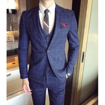 メンズスーツ 3点セット ベスト セットアップ  ビジネス パンツ 紳士服  礼服 結婚式 二次会 入学式   卒業式