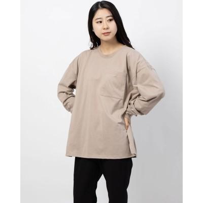 リッカファム RIKKA FEMME クルーネックTシャツ(ライトベージュ)