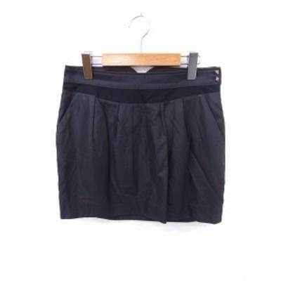 【中古】アバハウス ドゥヴィネット abahouse devinette スカート ギャザー 装飾 ミニ ジップ 2 グレー 灰 /FT40 レディース