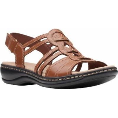 クラークス レディース サンダル シューズ Women's Clarks Leisa Janna Slingback Sandal Tan Leather
