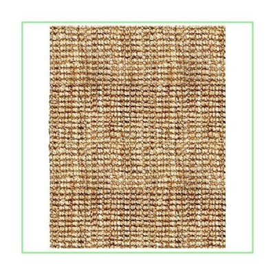 Natural Boucle Woven Hand Spun Jute Area Rug w Tufted Ends (4 ft. x 6 ft.) 並行輸入品