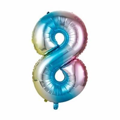 送料無料GWHOLE 数字アルミバルーン 誕生日の飾り付け ナンバーバルーン 30インチ 数字8 パーティーグッズ キラキラ ナンバー 誕生日会