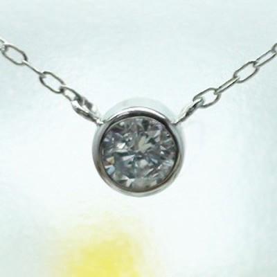 プラチナ900:一粒ダイヤモンド ソリティア ダイヤ0.20ctシンプル:ネックレス【コンビニ受取対応商品】  ホワイトデー プレゼント