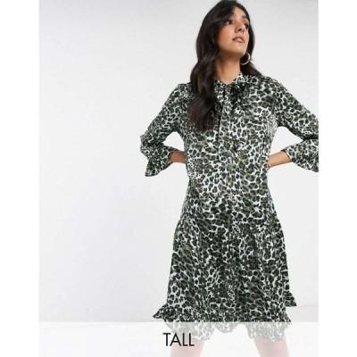 ワイ エー エス Y.A.S Tall レディース ワンピース ワンピース・ドレス Solia leopard print smock dress レオパードプリント