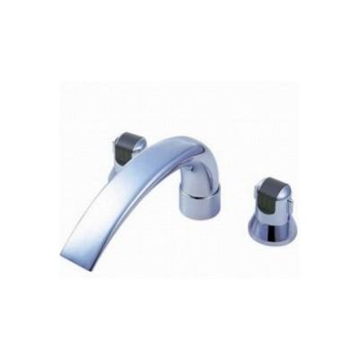 水栓金具 三栄水栓 K9160CK-L-13X240 寒冷地 ツーバルブデッキ混合栓(ユニット用) [□]