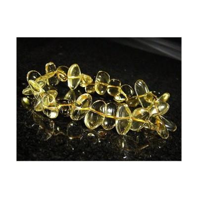 シトリン幸せの黄水晶/さざれブレスレット/シトリン:黄水晶【1点もの】