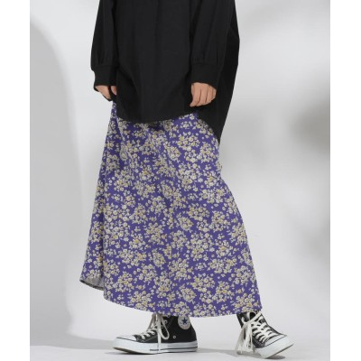 (LIPSTAR/リップスター)花柄マーメイドスカート/レディース ダークネイビー