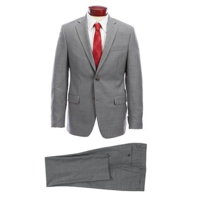 ラルフローレン メンズ ジャケット・ブルゾン アウター Slim Fit Solid Light Grey Wool Suit