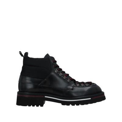 ATTIMONELLI'S ショートブーツ ブラック 41 革 / 紡績繊維 ショートブーツ