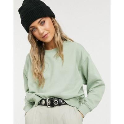 ニュールック レディース パーカー・スウェットシャツ アウター New Look sweatshirt in light green Light green