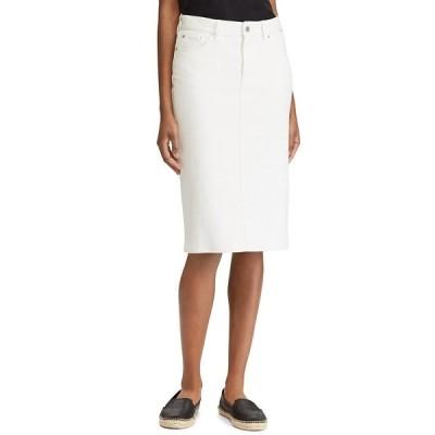 ラルフローレン レディース スカート ボトムス Denim Pencil Skirt White