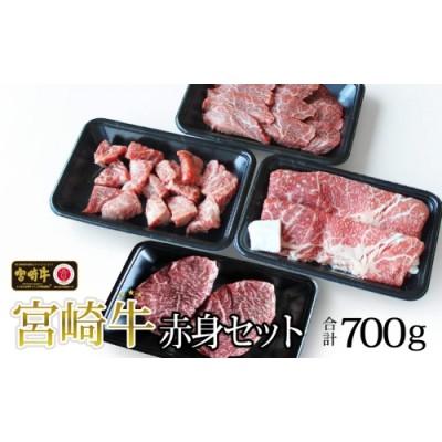 宮崎牛赤身セット700g(ステーキ200g・焼肉150g・スライス200g・サイコロ150g)