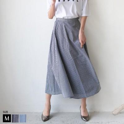 ボトムス(28103A134) レディース ギンガムチェック切替デザインスカート Buyer's select