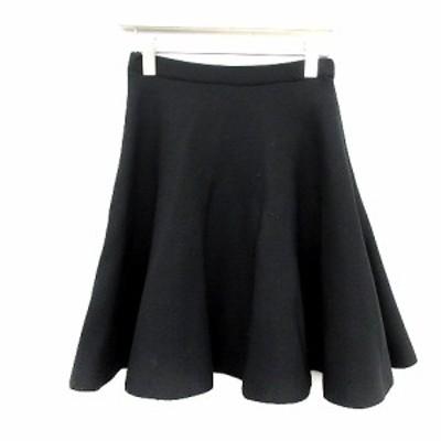 【中古】ルシェルブルー LE CIEL BLEU 15SS スカート ミニ フレア F 黒 ブラック /YT レディース