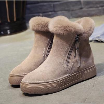 ムートンブーツ スノーブーツ レディース ブーツ 短靴 雪用ブーツ 厚底 裏起毛 防寒 防風 防水防滑 保暖冬用 靴 暖かい
