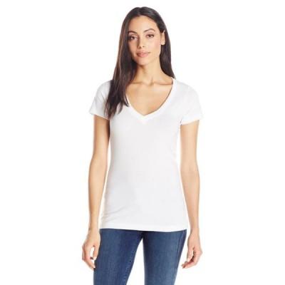 レディース 衣類 トップス Women's Deep V-Neck Short Sleeve T-Shirt グラフィックティー