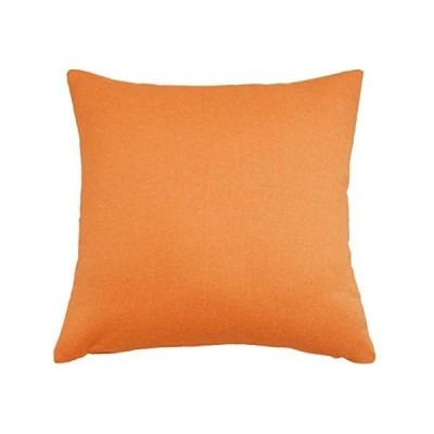 """Aikingホーム通気性ソリッドフェイクリネンスロー枕ケース/クッションカバー用のソファ、ベッドルームや車。。。 24""""x24"""" オレンジ"""