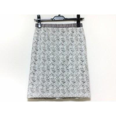 ジャスグリッティー JUSGLITTY スカート サイズ1 S レディース 美品 白×グレー【中古】