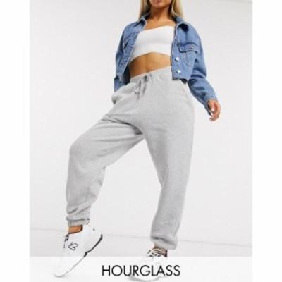 エイソス ASOS DESIGN レディース ジョガーパンツ ボトムス・パンツ Hourglass oversized jogger グレー