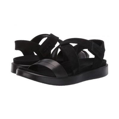 ECCO エコー レディース 女性用 シューズ 靴 サンダル Flowt Cross Sandal - Black/Black Cow Leather/Cow Nubuck